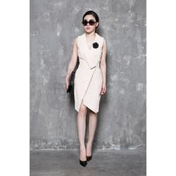 Đầm trắng dự tiệc cao cấp thiết kế vest sang trọng