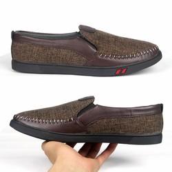 giày lười vải nam g214 đế cao su siêu bền bảo hành 1 năm