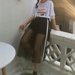 Chân váy lưới viền sọc Uzzang cực hot