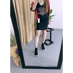 Chân váy jean cotton siêu co giãn ôm body