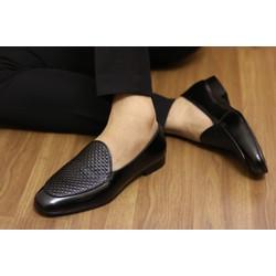 Giày da bò nam cao cấp đế phíp sang trọng