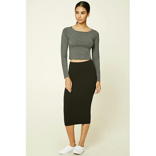Chân váy công sở bút chì dáng dài màu đen siêu đẹp