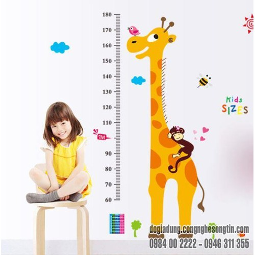 Decal Đo Chiều Cao Kid Sizes - 6033311 , 10134414 , 15_10134414 , 70000 , Decal-Do-Chieu-Cao-Kid-Sizes-15_10134414 , sendo.vn , Decal Đo Chiều Cao Kid Sizes