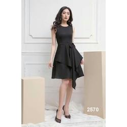 Đầm xòe đen thắt nơ cao cấp
