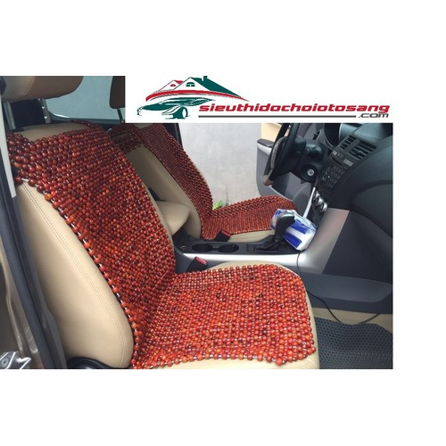 Tấm lót ghế ô tô hạt gỗ hương cao cấp
