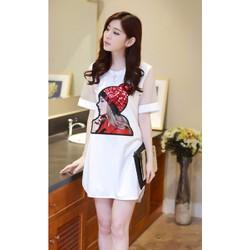 Đầm suông thời trang dành cho người mập - D1147013