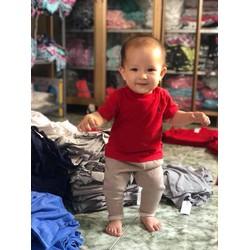 Áo thun bé trai bé gái Polo Ralph Lauren size nhí hàng xuất xịn màu đỏ