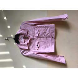 khoác kiểu lửng kaki hồng nhạt korea