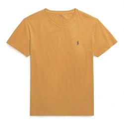 Áo thun bé trai cổ tim Polo Ralph Lauren xuất xịn - màu vàng nghệ
