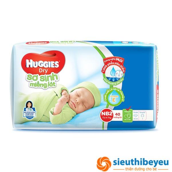 Sơ sinh miếng lót Huggies NB2 40 miếng