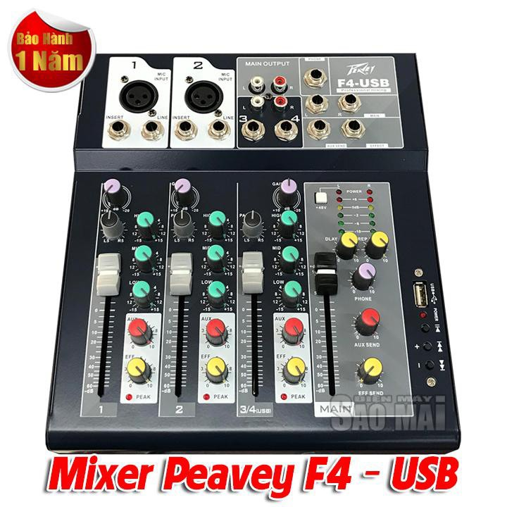 Mixer bàn mini PEAVEY F4 USB 1