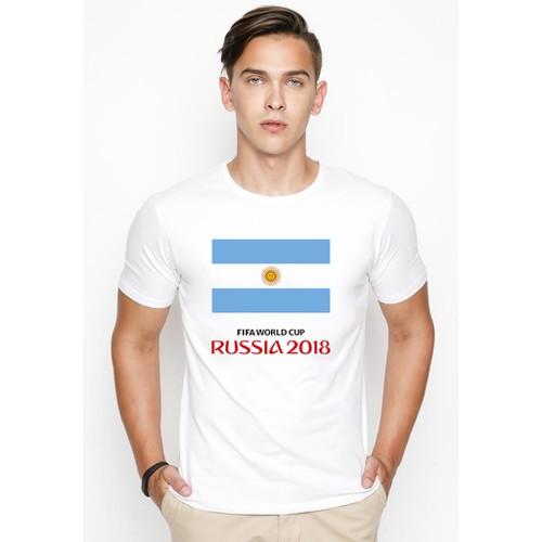 Áo thun nam Worldcup in hình Cờ Argentina