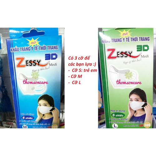 Khẩu trang y tế Zessy cỡ M L S cho người lớn và trẻ em Hộp 20c - 4085267 , 10194094 , 15_10194094 , 43000 , Khau-trang-y-te-Zessy-co-M-L-S-cho-nguoi-lon-va-tre-em-Hop-20c-15_10194094 , sendo.vn , Khẩu trang y tế Zessy cỡ M L S cho người lớn và trẻ em Hộp 20c