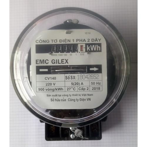công tơ điện 1 pha 2 dây EMC GILEX 5-20A-KHÔNG GIẤY KIỂM ĐỊNH