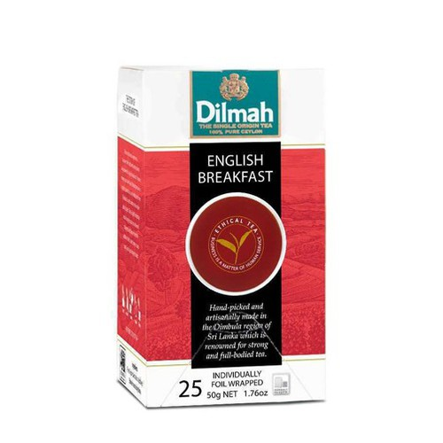 """Trà Dilmah điểm tâm Buổi sáng """"english breakfast"""" – hộp 50g -25 túi - 4072625 , 10173216 , 15_10173216 , 130000 , Tra-Dilmah-diem-tam-Buoi-sang-english-breakfast-hop-50g-25-tui-15_10173216 , sendo.vn , Trà Dilmah điểm tâm Buổi sáng """"english breakfast"""" – hộp 50g -25 túi"""