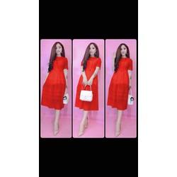 Đầm ren đỏ hàng new tại shop giảm giá