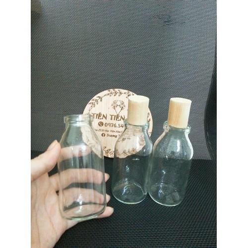 Chai thuỷ tinh chai truyền nút gỗ 100ml