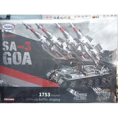 đồ chơi lắp ráp thông minh non-lego Xingbao 06004 Sa-3 GOA Tên lửa