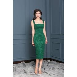 Sale: Đầm body ren 2 dây cup ngực - Size M