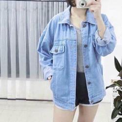 Áo Khoác Jean Nữ Thời trang Như Hình