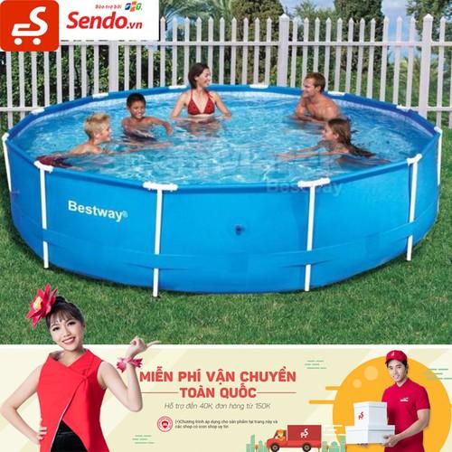 Bể Bơi Bestway Bể tròn đường kính 3.66m cao 76cm Tặng Máy Lọc - 4075287 , 10177795 , 15_10177795 , 3935000 , Be-Boi-Bestway-Be-tron-duong-kinh-3.66m-cao-76cm-Tang-May-Loc-15_10177795 , sendo.vn , Bể Bơi Bestway Bể tròn đường kính 3.66m cao 76cm Tặng Máy Lọc
