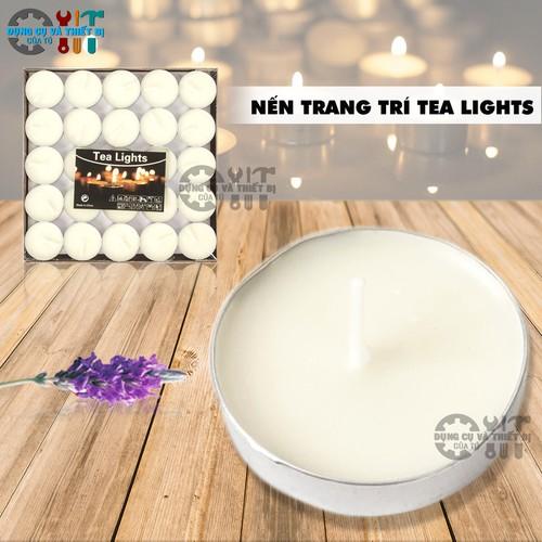 BỘ 50 NẾN TEA LIGHTS TRANG TRÍ PHÒNG, BÀN TIỆC, EVENT