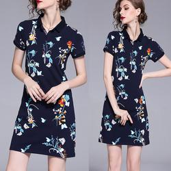 Đầm thun suông in hoa - hàng nhập cao cấp