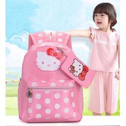 Balo Kitty học sinh hồng hồng đáng yêu cho bé gái