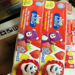 Combo 2 Hộp Kem Đánh răng Trẻ Em Kodomo Hương Dâu Thái Lan