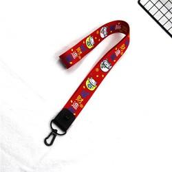 móc khóa dây đeo cổ đỏ mèo phát tài chữ, móc khóa, quà tặng