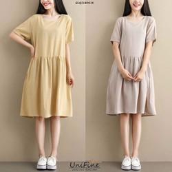 Đầm babydoll họa tiết đơn giản