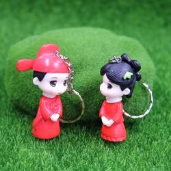 móc khóa cặp cô dâu chú rễ trung, móc khóa, móc khóa, quà tặng