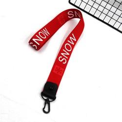 móc khóa dây đeo cổ đen snow, móc khóa, túi xách, quà tặng