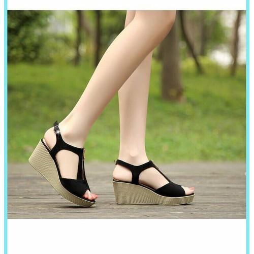 Giaỳ sandal đế xuồng kết hợp dây kéo