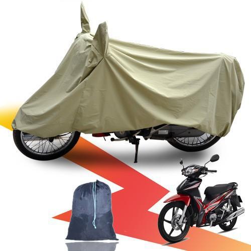 Áo trùm xe máy có tai che gương tráng Pu che nắng che mưa cực tốt