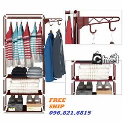 tủ vải   tủ treo quần áo   kệ treo quần áo chữ H   tủ treo đồ đa năng