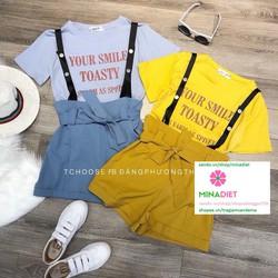 Sét áo thun + yếm quần short