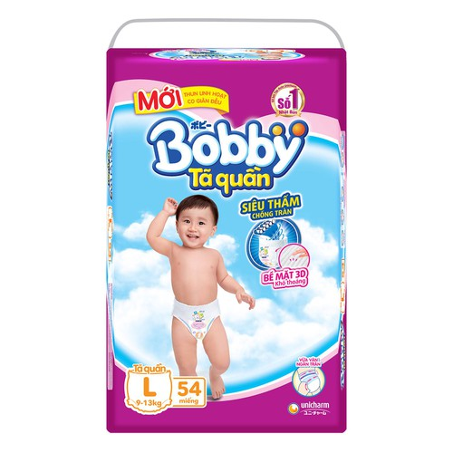 Bỉm Bobby L54 quần