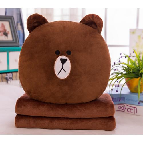 Bộ chăn gối văn phòng LINE gấu Brown Nâu DORI - 4098011 , 10212452 , 15_10212452 , 239000 , Bo-chan-goi-van-phong-LINE-gau-Brown-Nau-DORI-15_10212452 , sendo.vn , Bộ chăn gối văn phòng LINE gấu Brown Nâu DORI