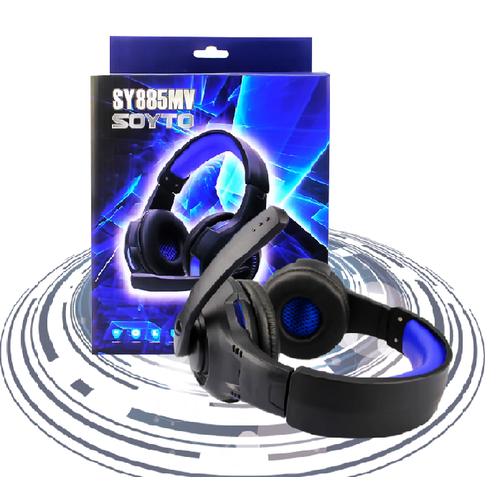 Tai nghe game thủ Soyto SY885MV có đèn LED màu Xanh
