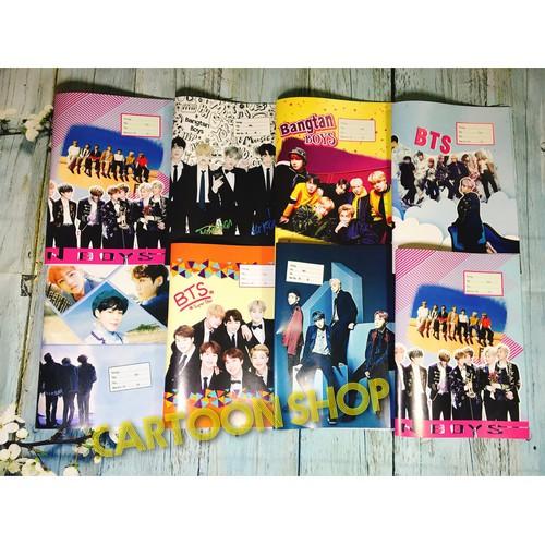 Combo 30 tờ giấy bao tập BTS