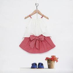 Set áo 2 dây chân váy nơ
