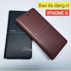 Bao da Iphone X hiệu Nuoku chính hãng