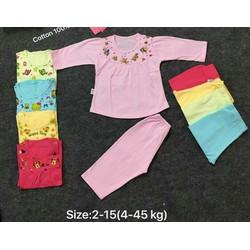 Set 5 bộ đồ dài bé gái 12-18KG