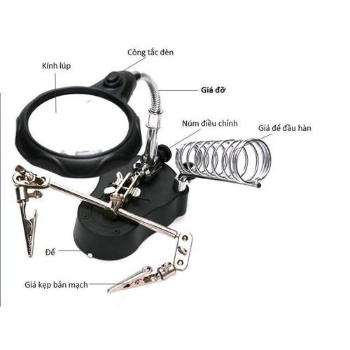 Kính lúp soi kẹp hàn mạch điện tử có đèn led - 4114933 , 10239391 , 15_10239391 , 130000 , Kinh-lup-soi-kep-han-mach-dien-tu-co-den-led-15_10239391 , sendo.vn , Kính lúp soi kẹp hàn mạch điện tử có đèn led
