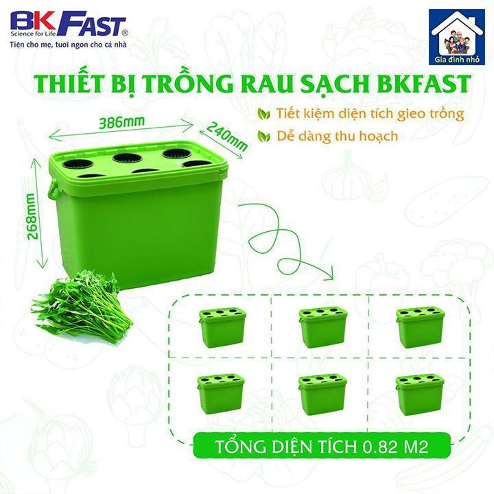 Bộ thiết bị trồng rau thuỷ canh BKFAST