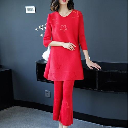 JZ183 - Set áo và quần ống loe nữ kiểu Hàn Quốc - giá 1.950k