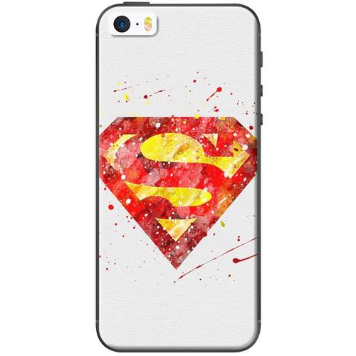 Ốp lưng nhựa dẻo iPhone 5, 5S, SE Super Man