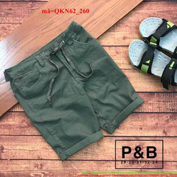 Quần short kaki thắt dây phong cách sành điệu QKN62