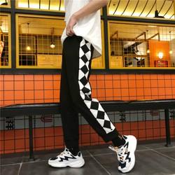 quần tuxedo họa tiết cá tính Mã: QD1822 - ĐEN